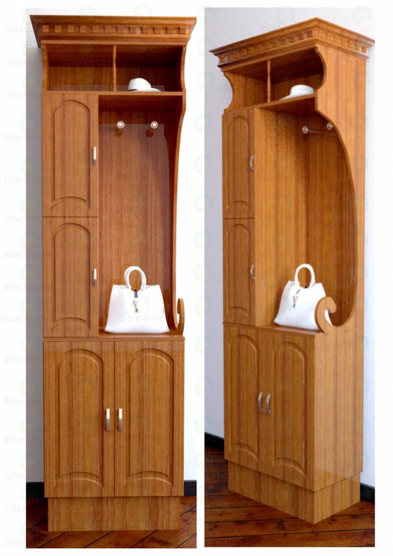 3d modeling Wardrobe in Hall 2 model free download