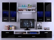 Wall tv-Nero with the décor. Tv Wall