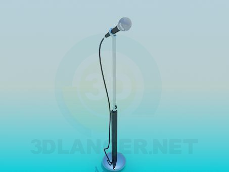 3d model Microphone on a stalk - preview