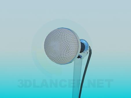 3d модель Микрофон на ножке – превью