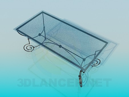 3d modeling Coffee table on wrought iron legs model free download