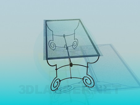 3d model Coffee table on wrought iron legs - preview