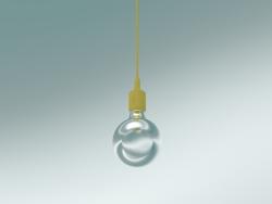 Lampada a sospensione E27 (senape)