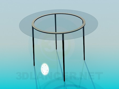 3d modeling Round glass table model free download