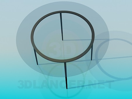 3d model Round glass table - preview