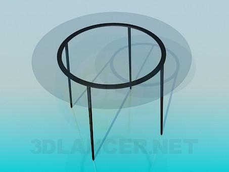 3d модель Круглий скляний стіл – превью