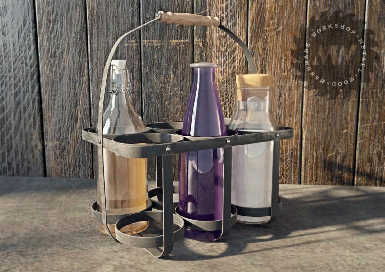 3d Metal basket model buy - render