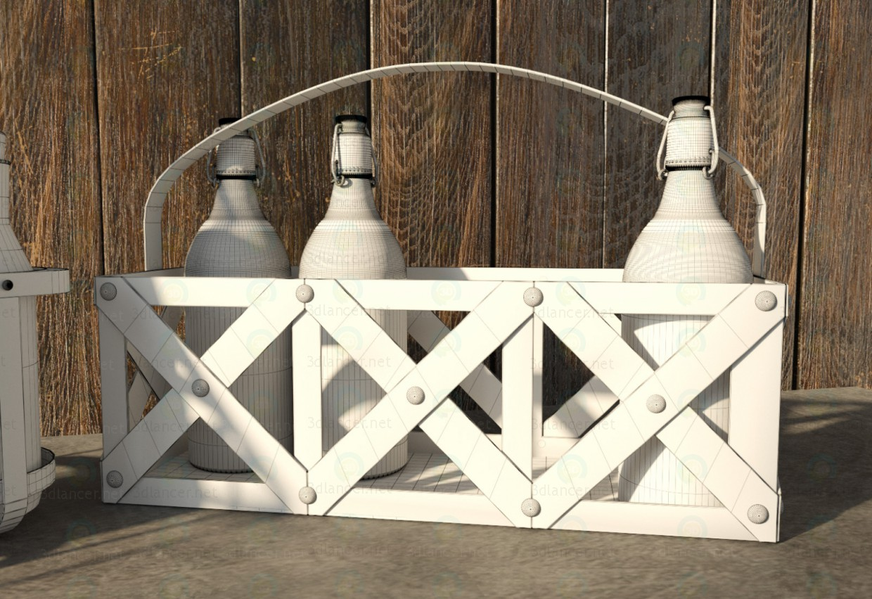 Cesta de metal 3D modelo Compro - render