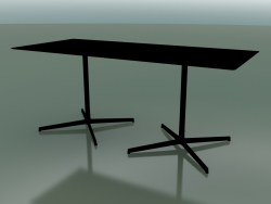 Rectangular table with a double base 5547 (H 72.5 - 79x179 cm, Black, V39)