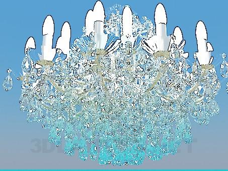 3d модель Абсолютно хрустальная люстра – превью