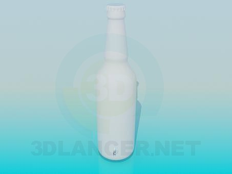 3d model A bottle of beer - preview