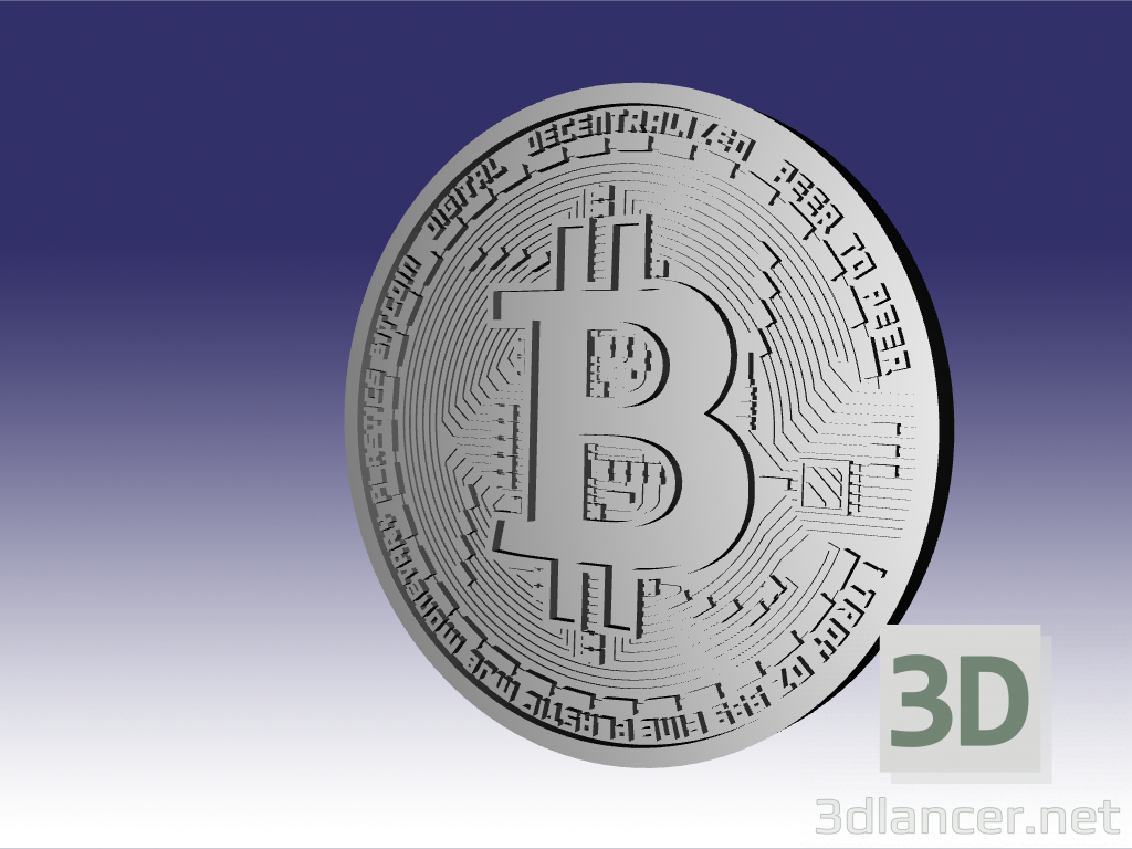 3d bitcoin model buy - render