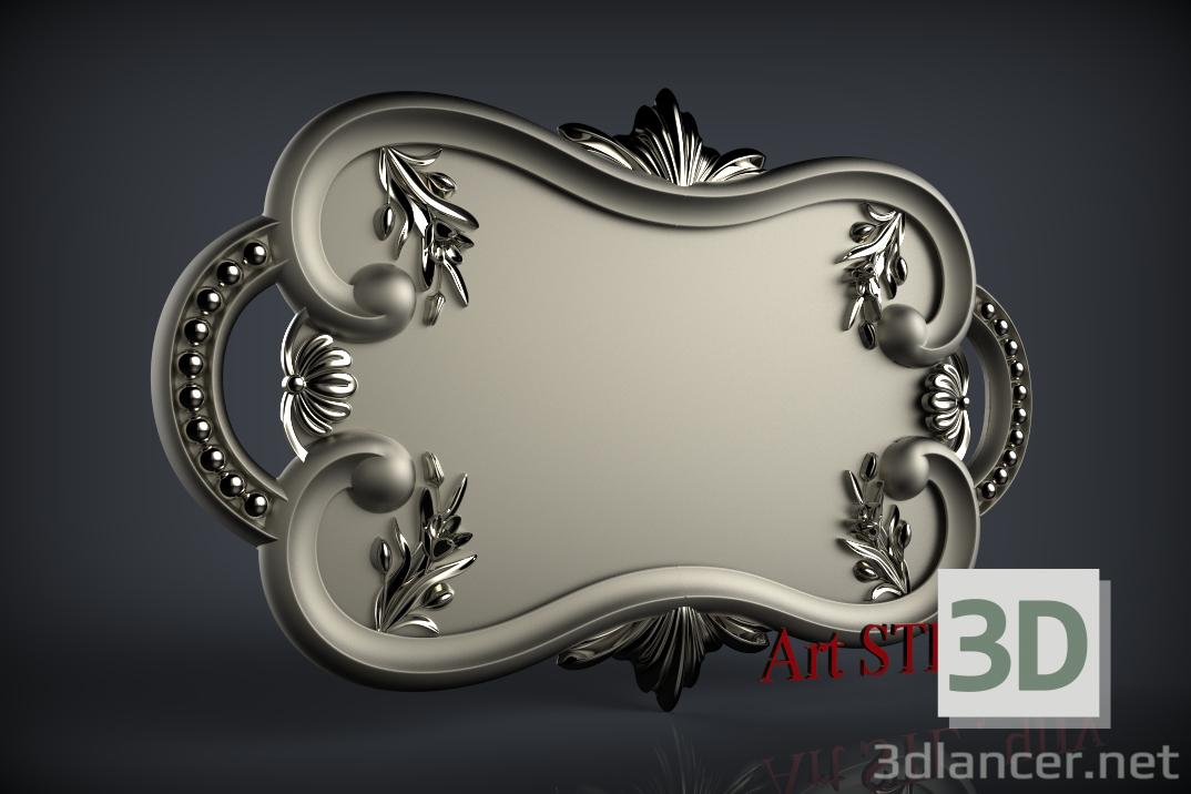 3d model 3D-Model Carved piece, stl, Antique- Free Download