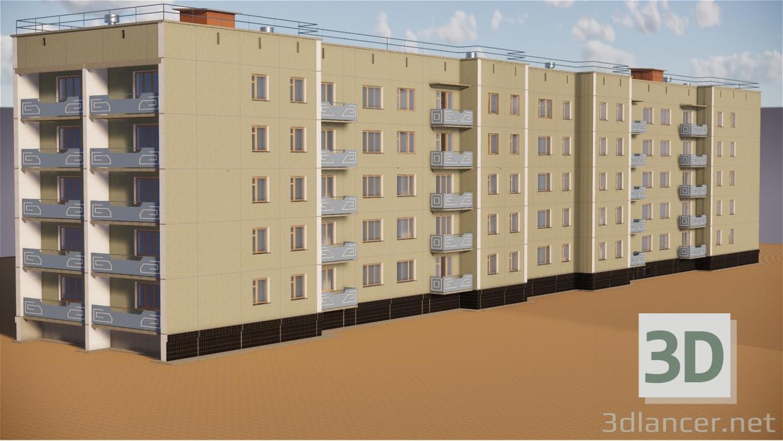 3d Five-story building TKBU-1, Chelyabinsk Region model buy - render