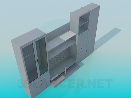 modelo 3D Sistema de los muebles - escuchar