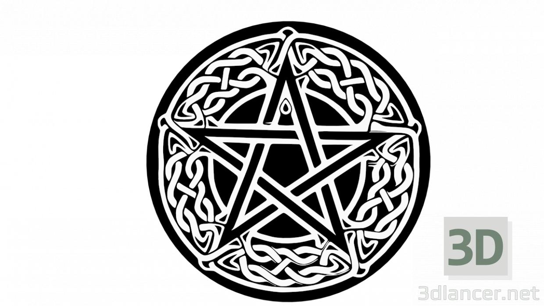 3d model pentagram - preview