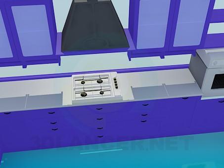 3d моделювання Великий кухонний гарнітур модель завантажити безкоштовно