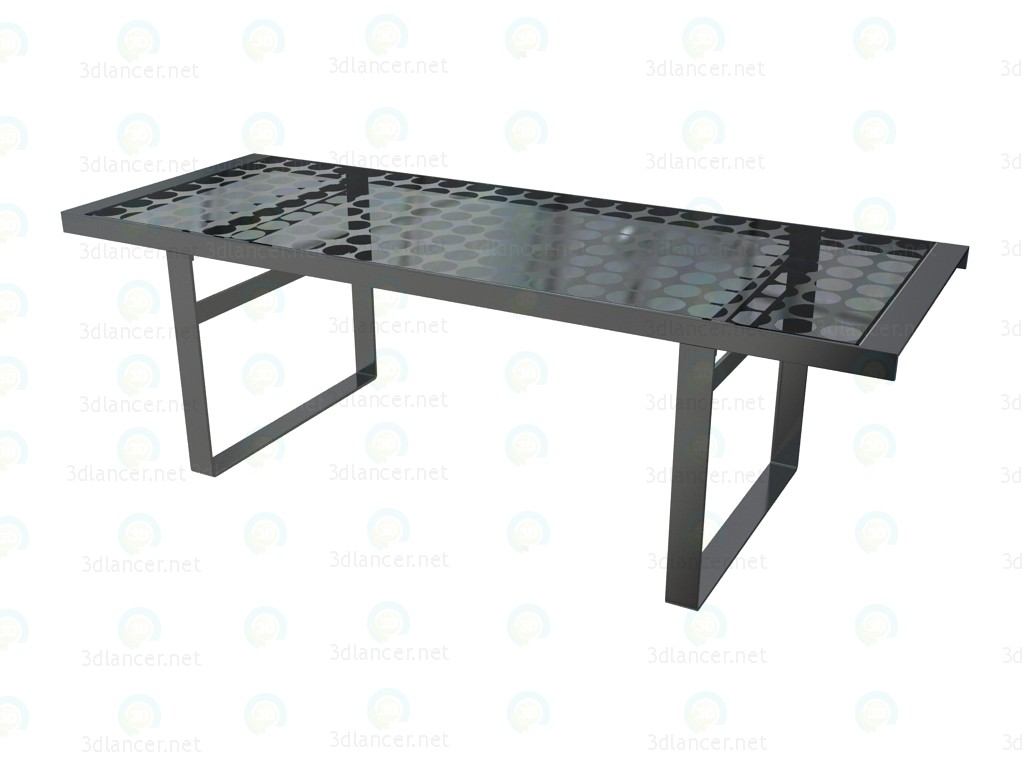 3d model Dining table TL230 B&B Italia Collection Lens download for free -> Model Table Télé