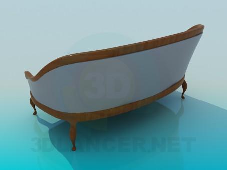 modelo 3D Antiguo sofá - escuchar