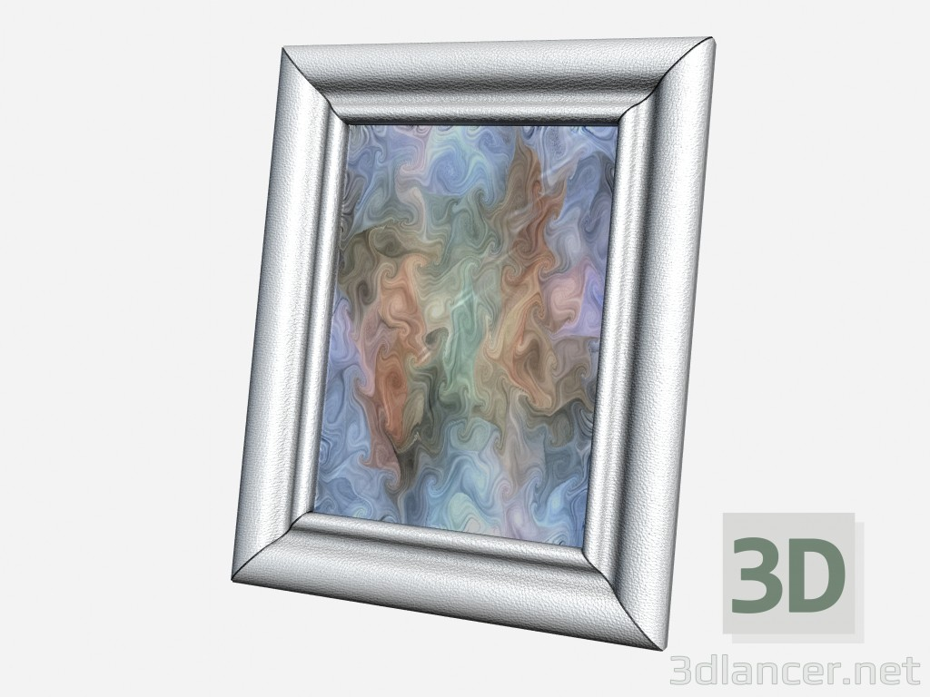 3d model Big picture frame Art Deco Decor Big leather photo frame ...