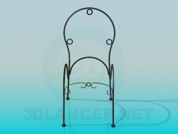 Frame chair forged