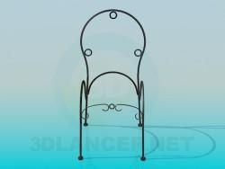 Cadeira de quadro forjada