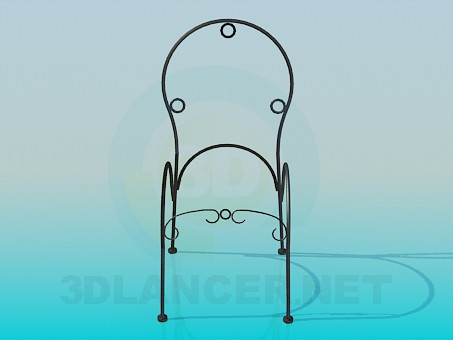 3d model Frame chair forged - preview