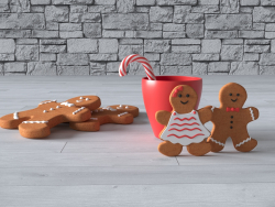 Gingerbread composition