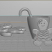 3d model Gingerbread composition - preview