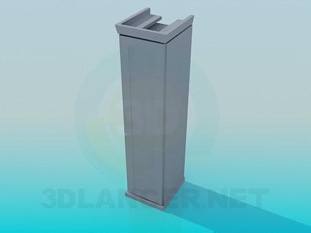 3d модель Шкаф-пенал – превью
