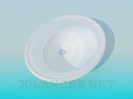 3d модель Круглий умивальник – превью