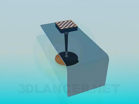 descarga gratuita de 3D modelado modelo Mesa con un tablero de ajedrez