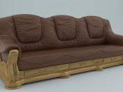 Realistic kozhennyj sofa
