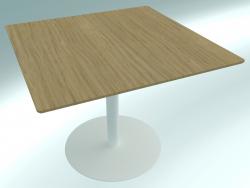 La table est moderne, réglable en hauteur RONDÒ (90 90X90 H68)