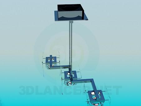 descarga gratuita de 3D modelado modelo Lámpara con pasos