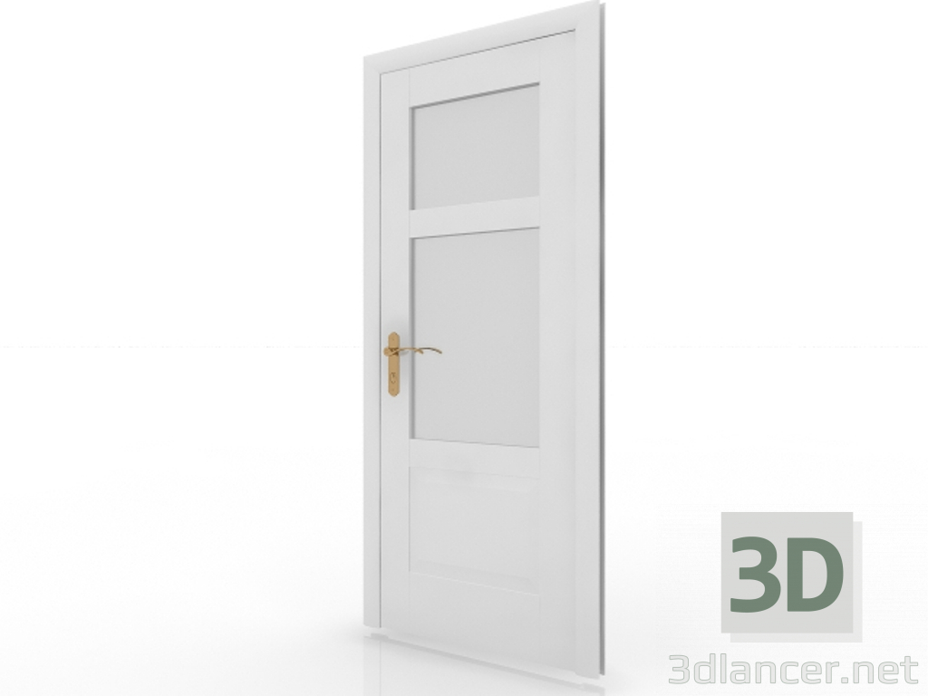 3d model Interior door with glass - preview