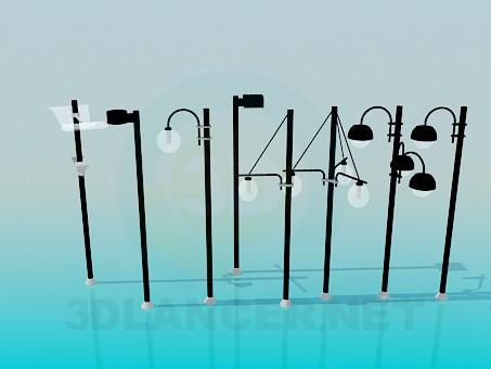 3d моделювання Вуличні ліхтарі модель завантажити безкоштовно