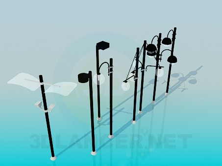 3d model Street lights - preview