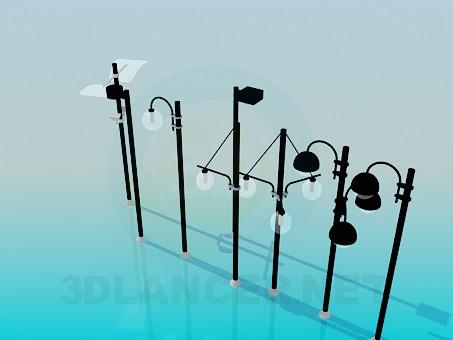 modelo 3D Luces de la calle - escuchar