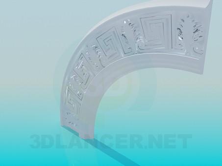 modelo 3D Border Radius - escuchar