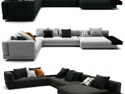 Minotti White Sofa Set 012