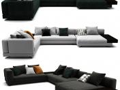 Minotti White Sofa Set 012