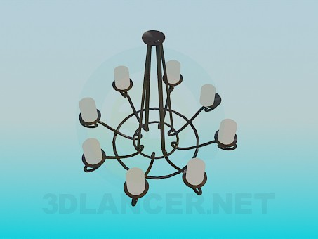 3d modeling Forged chandelier in the antique style model free download