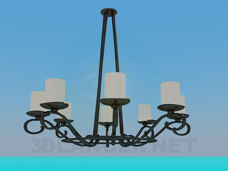 3d model Forged chandelier in the antique style - preview