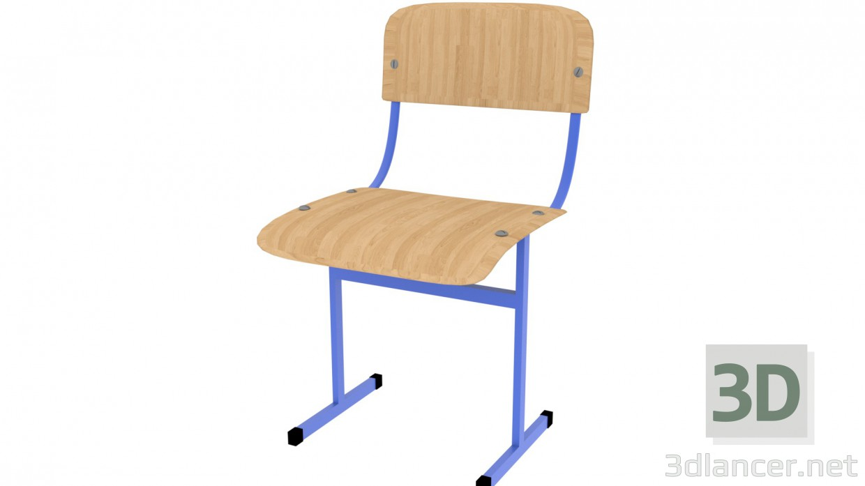 3d model School Chair - preview