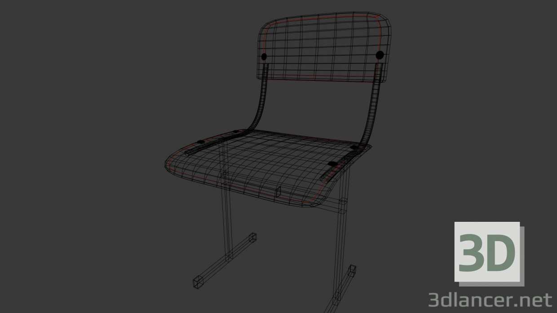 3d model School Chair - preview
