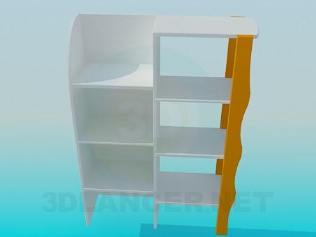 modelo 3D Estante para cuarto de niño - escuchar
