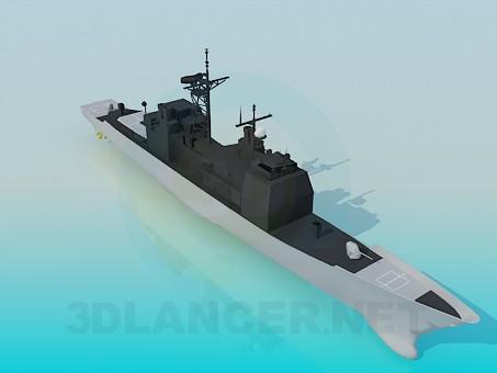 modelo 3D Buque de guerra - escuchar