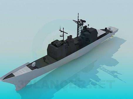 3d модель Военный корабль – превью