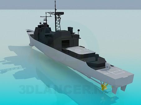 3d модель Військовий корабель – превью